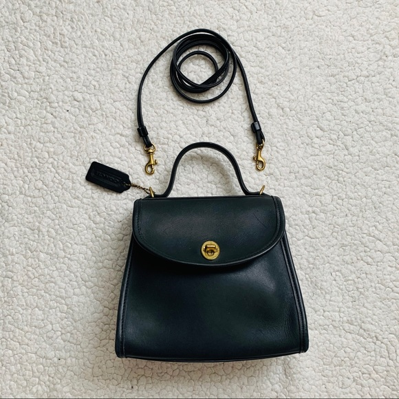 Coach Handbags - Vintage Coach Regina Crossbody, Navy
